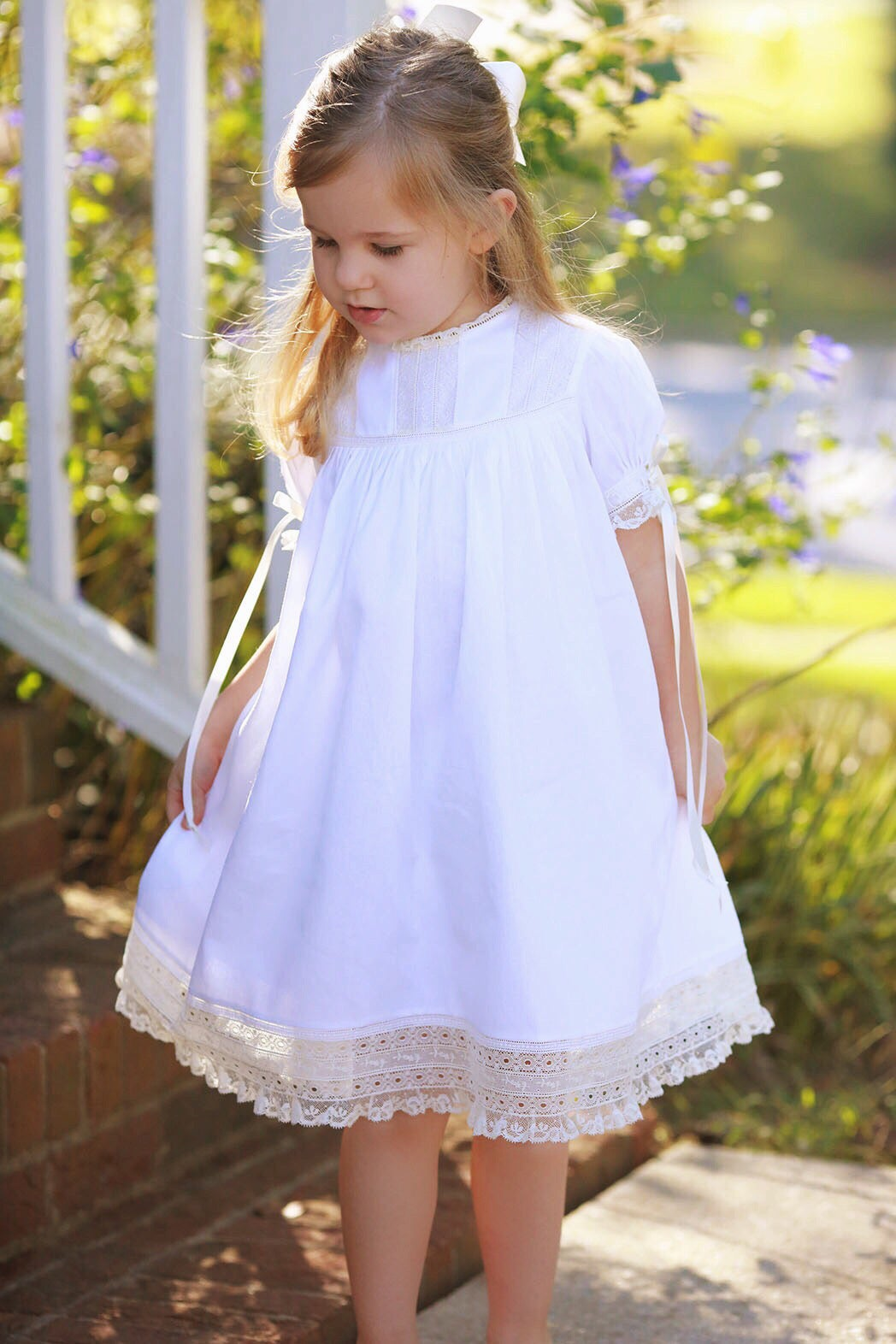 Image of Harper Rounded Yoke Heirloom Dress with Fancy Hem