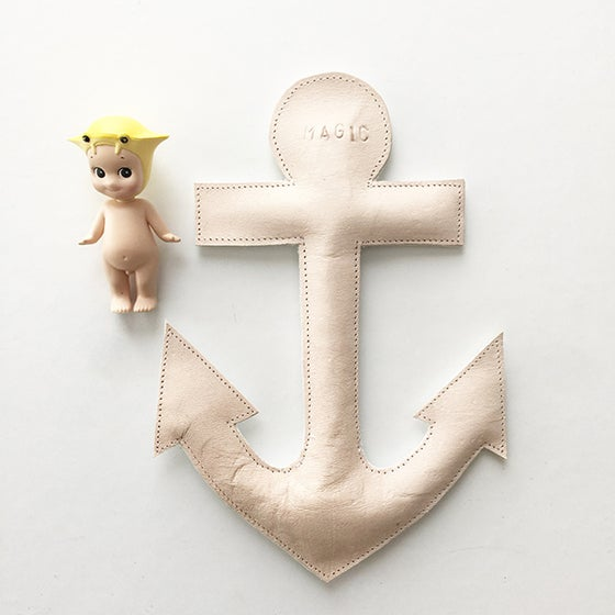 Image of Luxe Leather Personalised Anchor