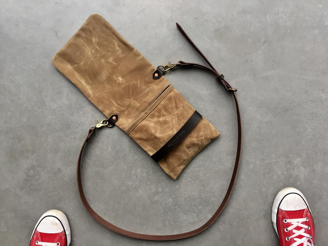 Image of Waxed canvas day bag COLLECTION UNISEX