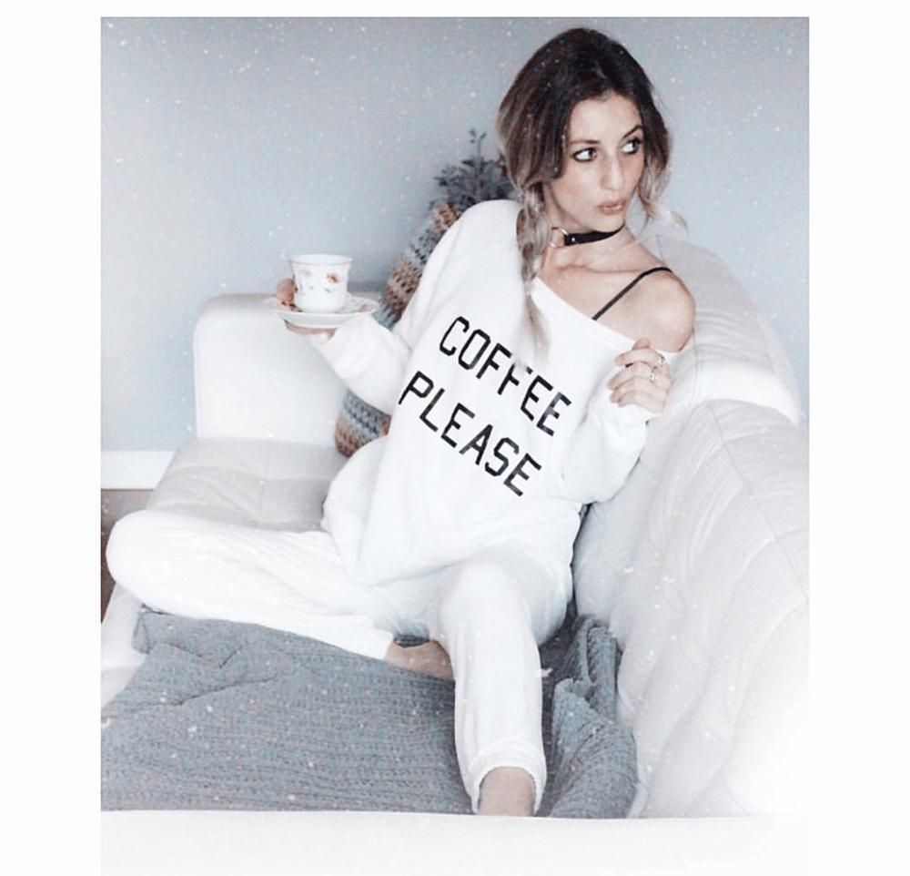 Image of COFFEE PLEASE Sponge Fleece