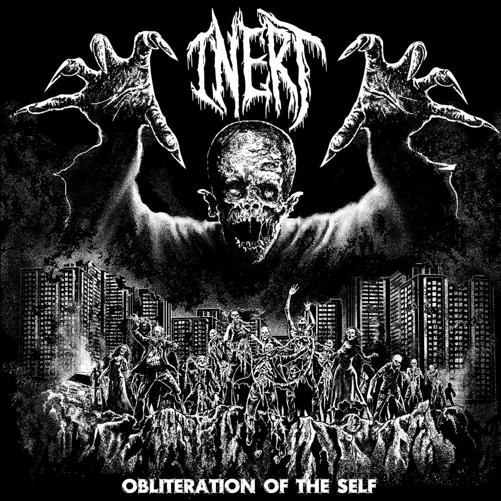 "Image of Inert "" Obliteration of the Self "" Red Black Marbled  7""EP limited to 300 Copies   Pre Order"