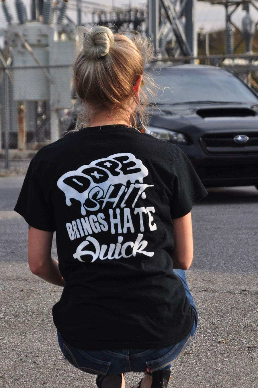 Image of Dope shit brings hate quick t-shirt
