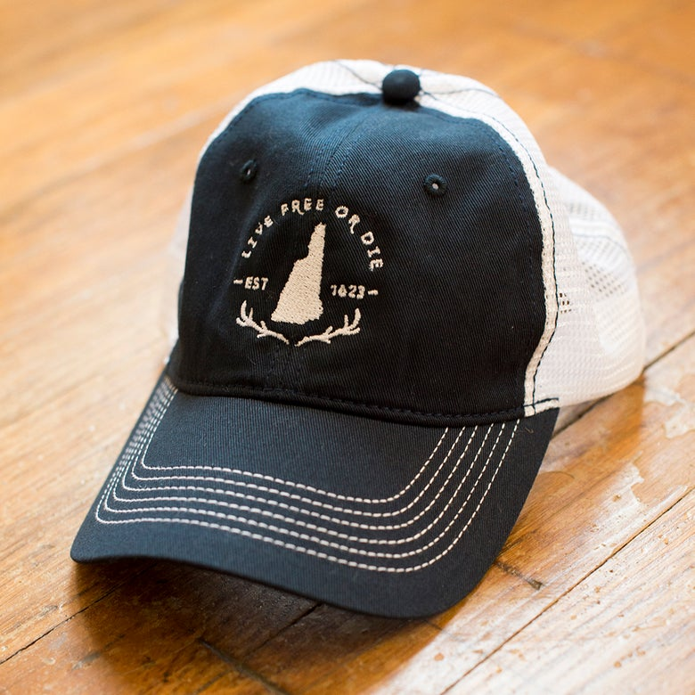 Image of Navy Antler Trucker Hat