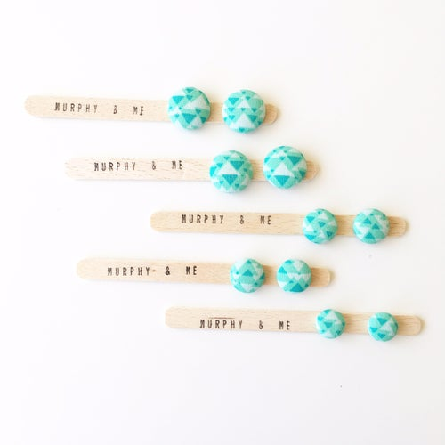 Image of Mint Mountains Earrings (12mm, 15mm & 19mm)