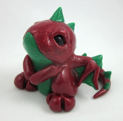 Image of Sparkling Red & Green Dragon