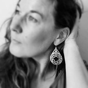 Image of Moroccan Keyhole large pendant earrings