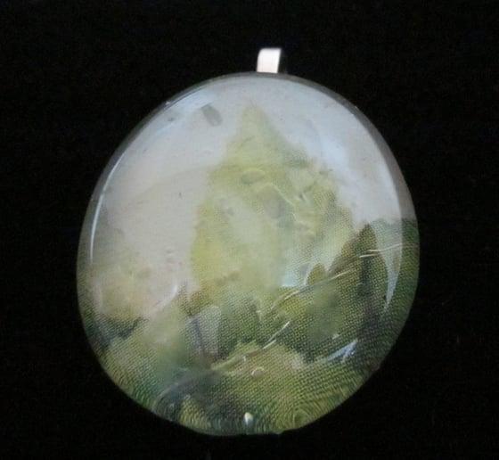 Image of Leaf - Upcycled Cabochon Pendant