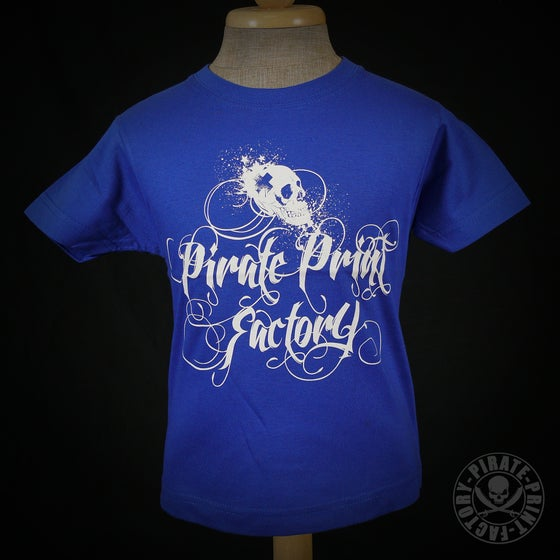 Image of T-shirt Pirate Print Factory Kid Bleu