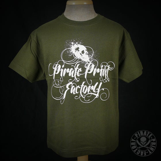 Image of T-shirt Pirate Print Factory Kid Kaki