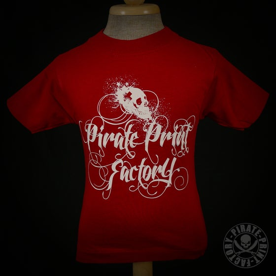 Image of T-shirt Pirate Print Factory Kid Rouge/Blanc