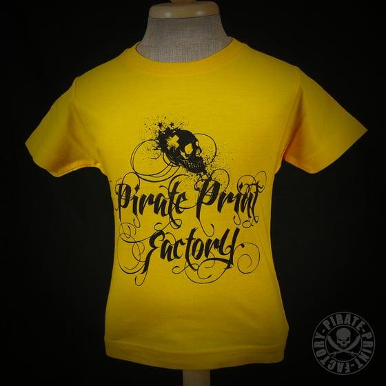 Image of T-shirt Pirate Print Factory Kid Jaune