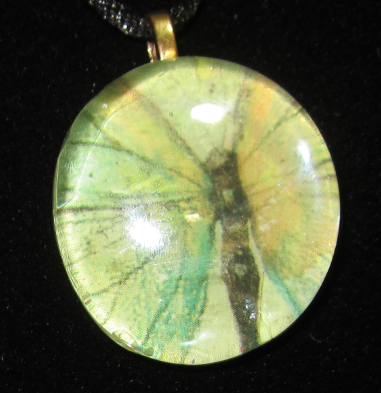 Image of Butterfly - Upcycled Glass Cabochon Pendant