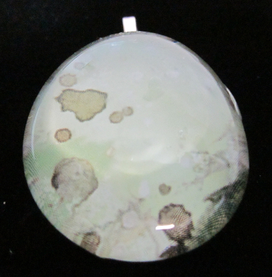 Image of Splatter - Upcycled Glass Cabochon Pendant