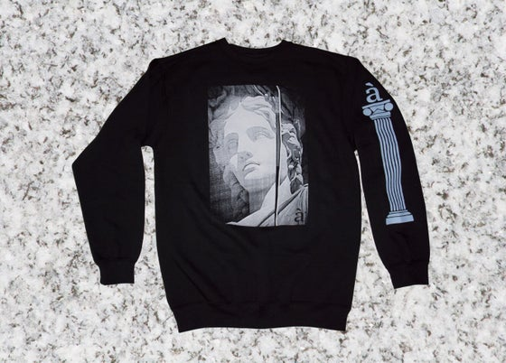 Image of Aglaya black crewneck
