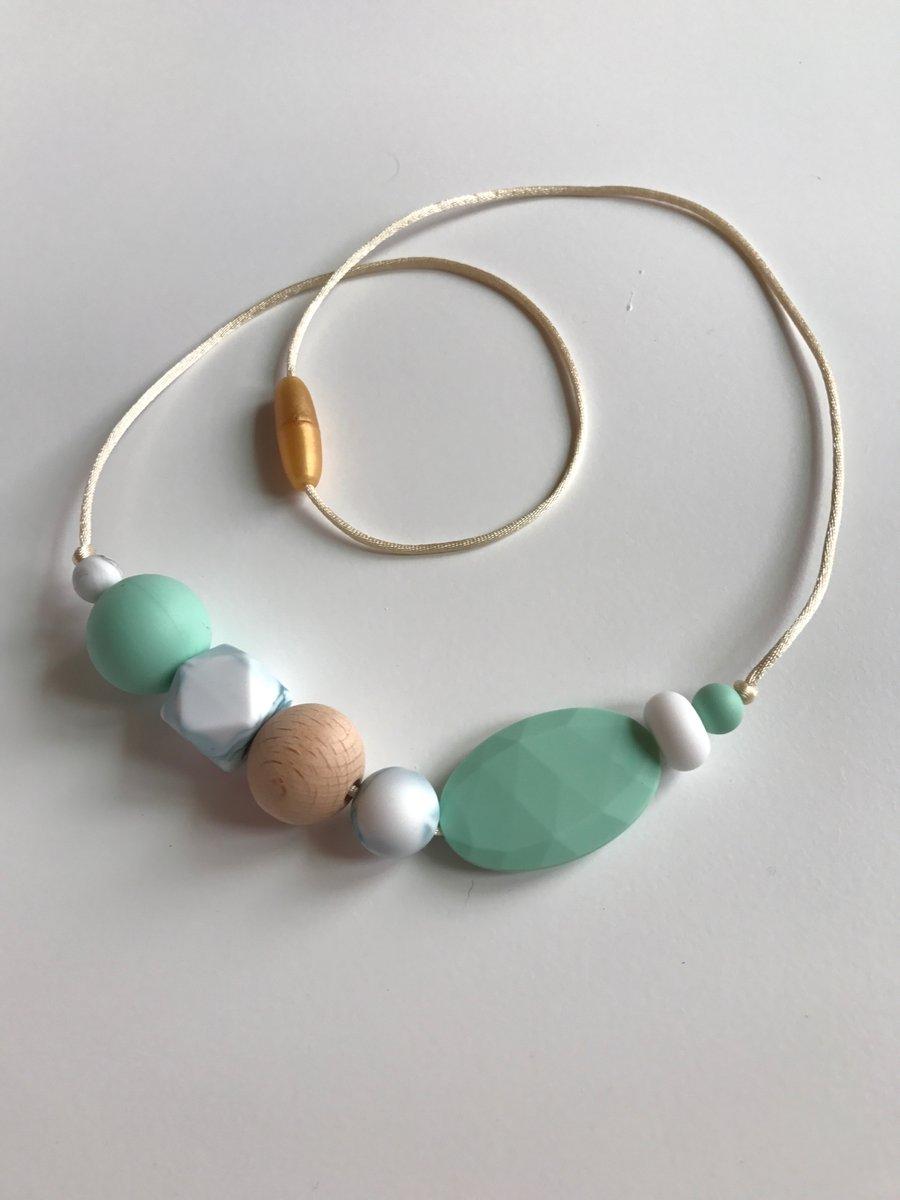 Image of 'Cocos' Sensory Silicone Bead Necklace (BPA free)