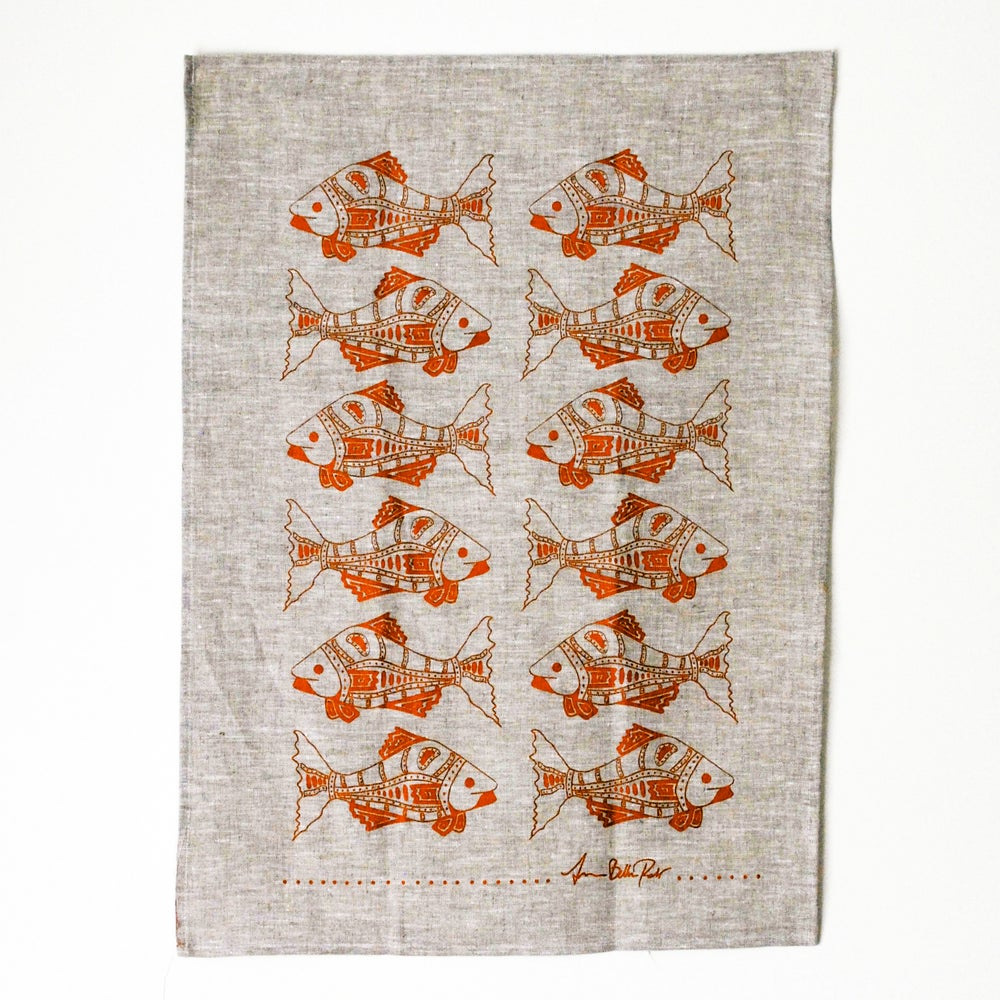 Image of Fish Tea Towel