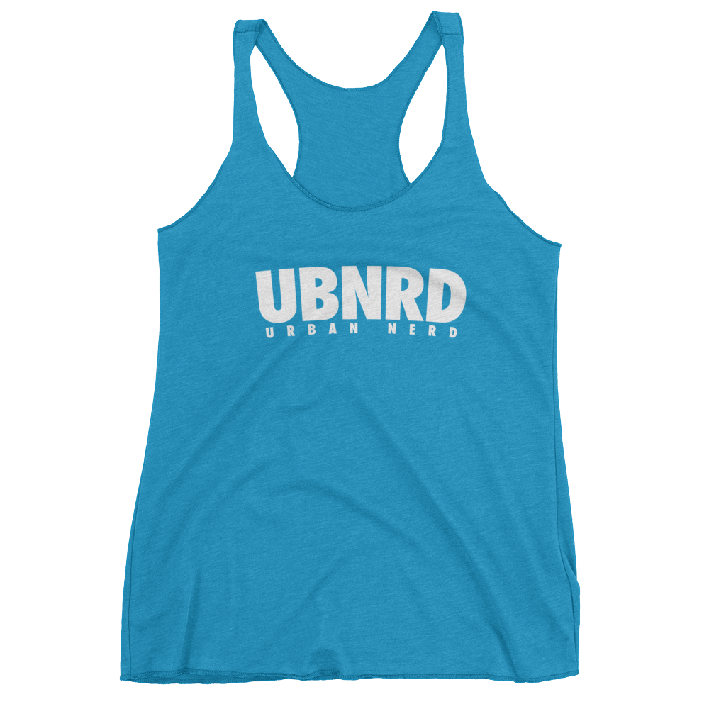 Image of HASHTAG Ladies Racerback-Tank by Urban Nerd ™  (Vintage Turquoise)