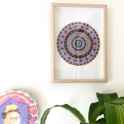 Image of 'MEXI BLOOM' Original Framed Mandala Art
