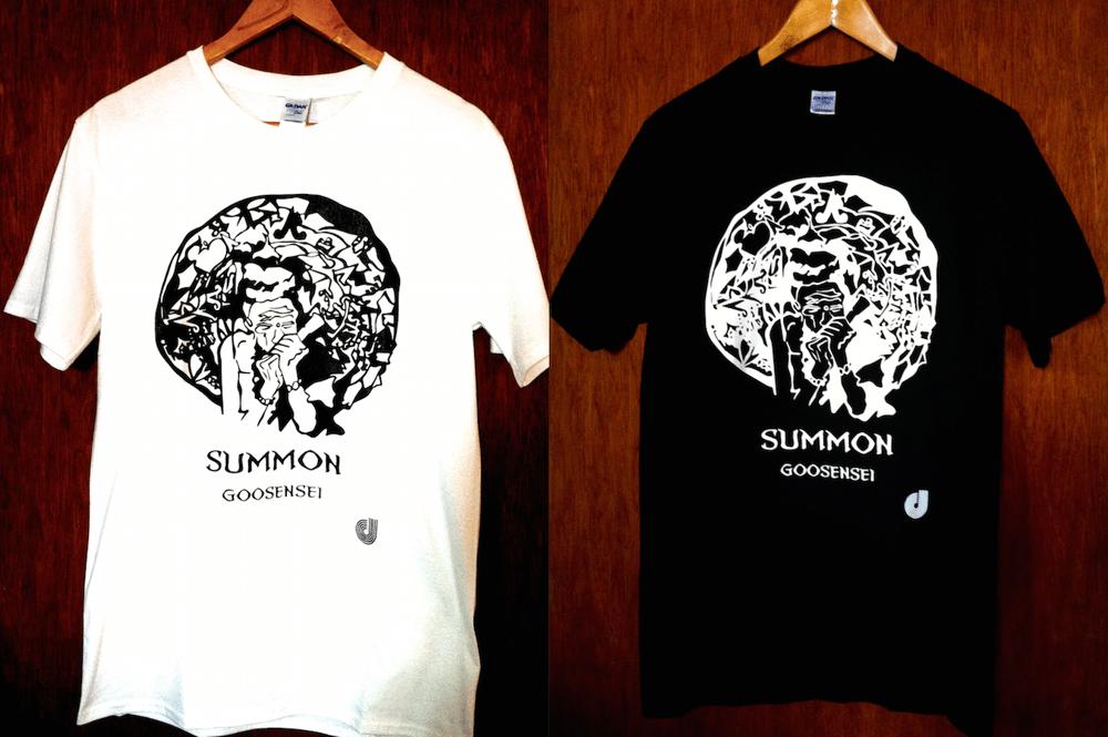 "Image of ""Summon EP"" T-shirt (Black / White)"