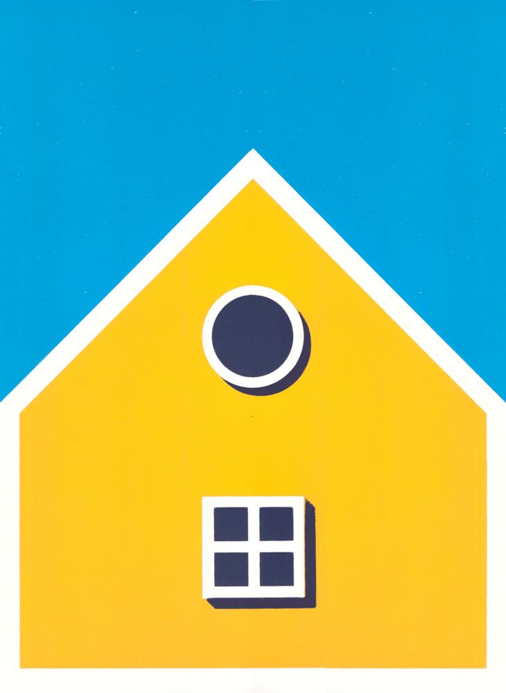 Image of Sérigraphie A3 - Maison Nordique •Jaune•
