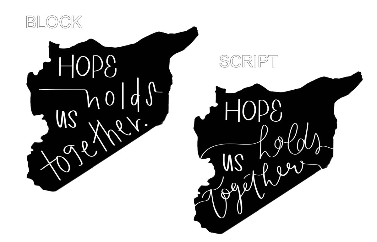 Image of HOPE // t-shirt & sweatshirt / PROCEEDS BENEFIT SYRIAN REFUGEES