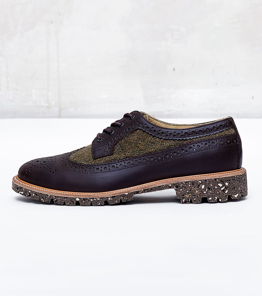 Image of Handmade Shoes | 602 Brogue Wingtip Green Edition