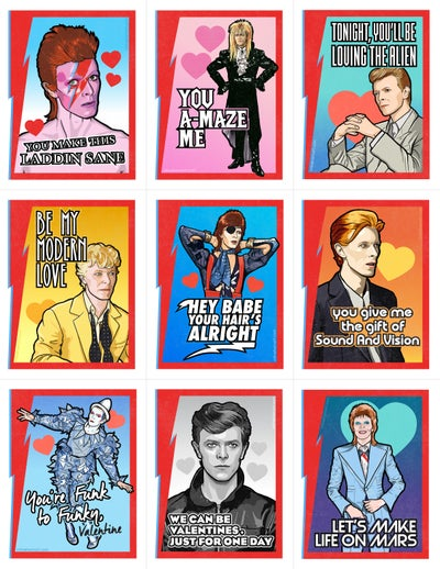 Image of READ DESCRIPTION! Bowie Valentine's Day Card Pack (2017)