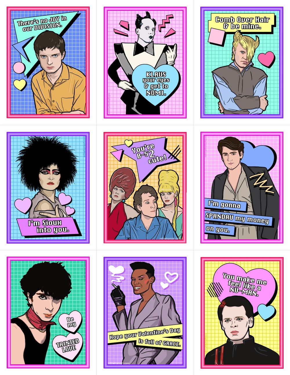 New Wave Valentine's Day Card Pack (2017)