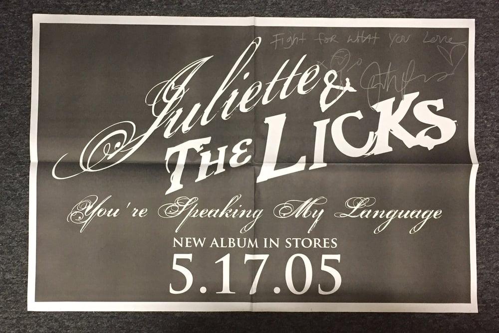 Image of *SIGNED* Huge OG Licks poster 2005