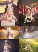 Image of White Cream Vintage Style Crown - Unique Photography Prop - Child to Adult - FREE SHIPPING!