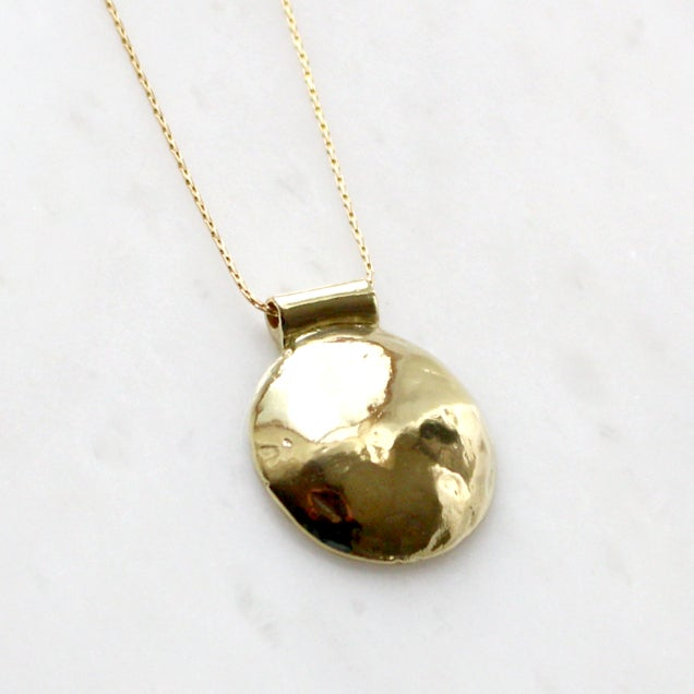 Image of Large Brass Bump Necklace