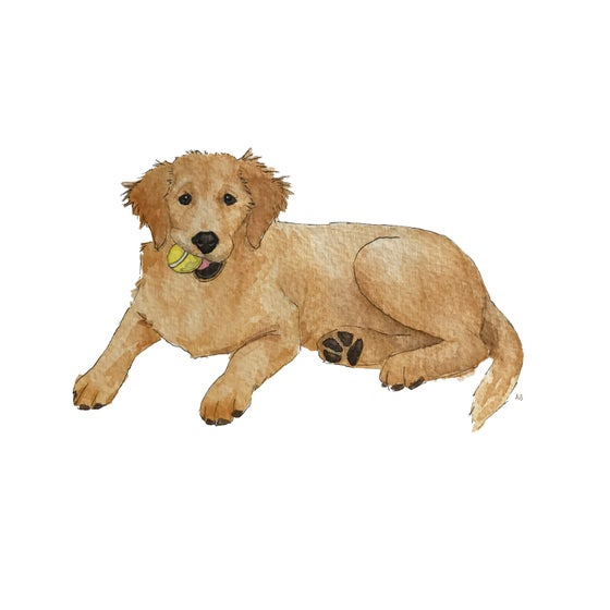 Image of Original Custom Watercolor Painting : Pet