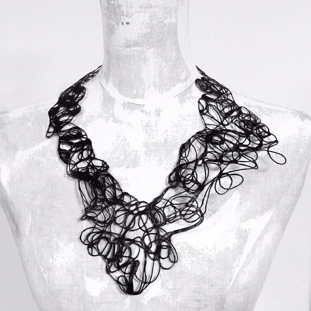 Image of Doodle Necklace - black II