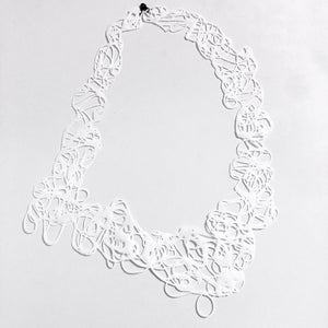 Image of Doodle Necklace -white II
