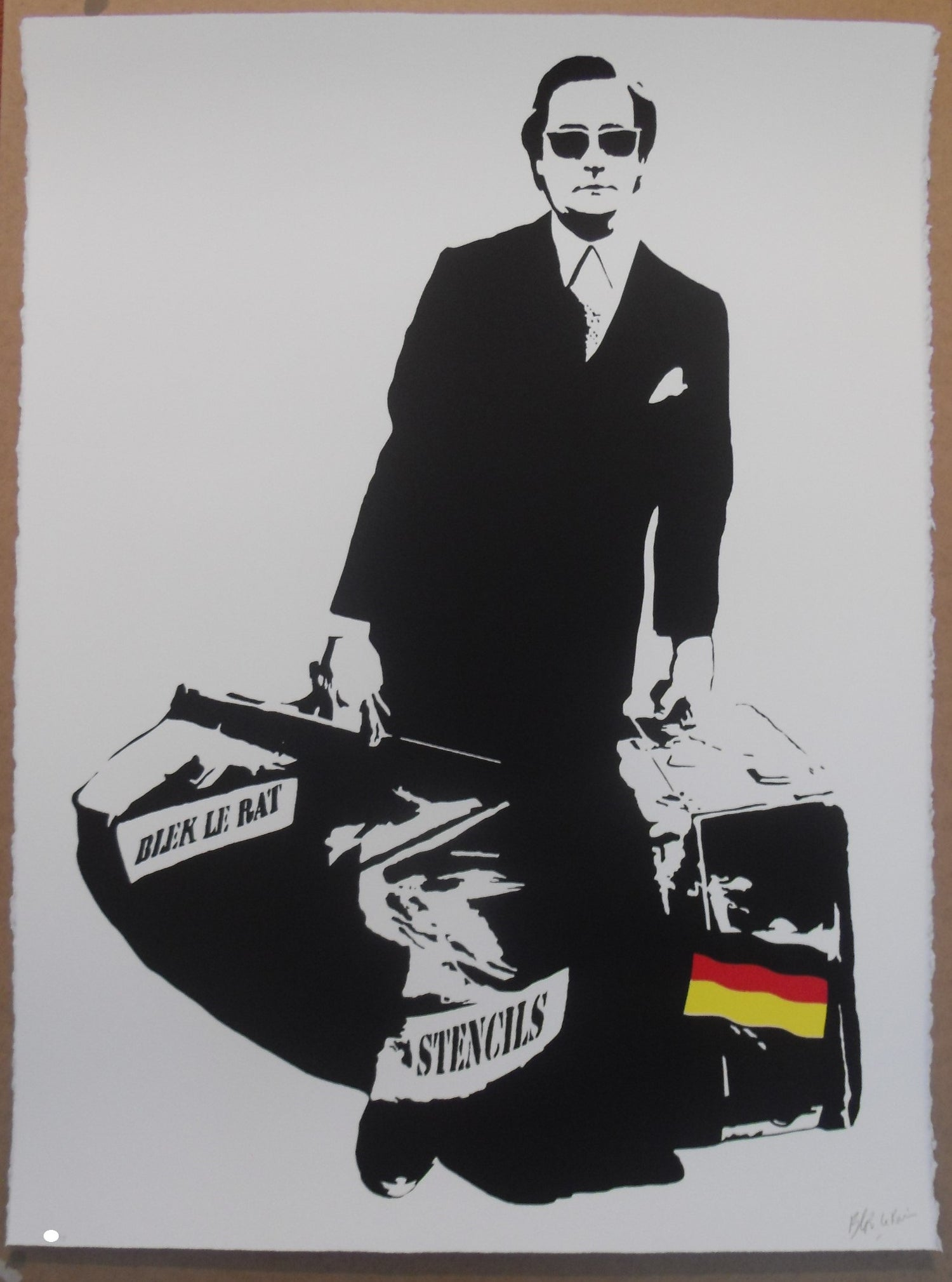 Image of BLEK LE RAT - MAN WHO WALKS THROUGH WALL`S  SPECIAL GERMAN EDITION OF 90 - 56CM X 76CM