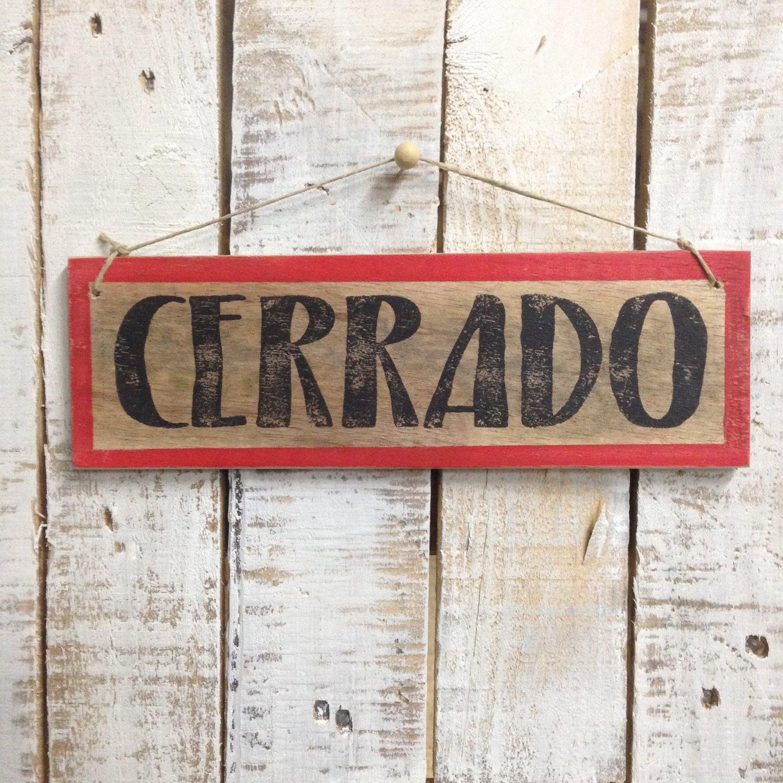 Image of Cartel Abierto/Cerrado