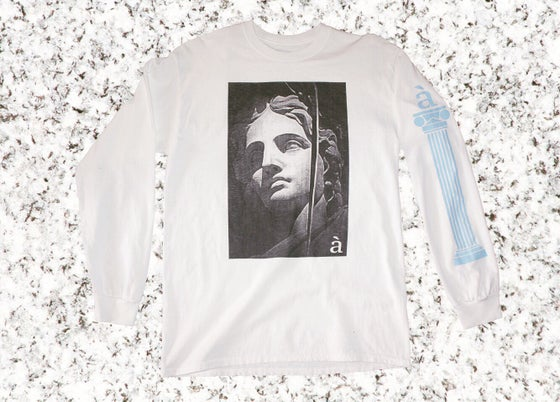 Image of Aglaya white long sleeve t-shirt