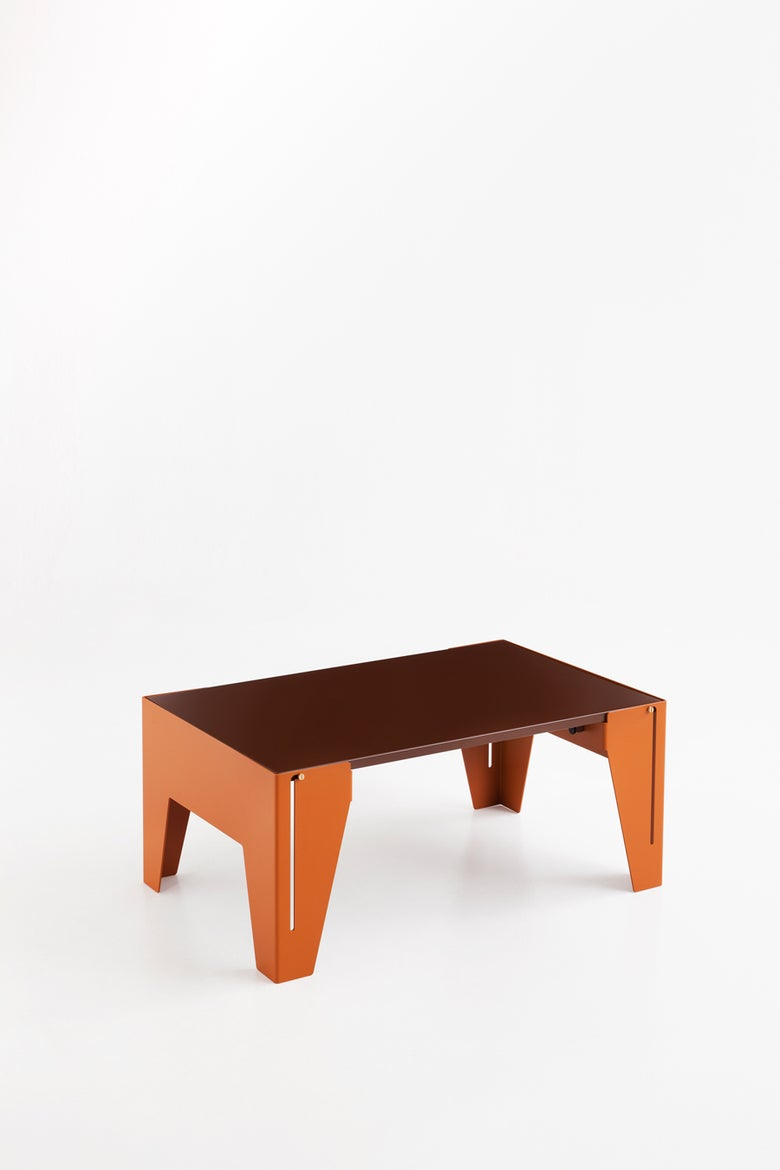 Image of Falcon Orange brown & Nut brown Coffee Table