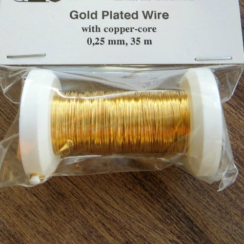 Image of LIMITED STOCK Gold-plated copper jewellery wire - 0.25mm gauge