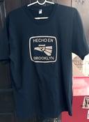 Image of Black Hecho en Brooklyn tshirt