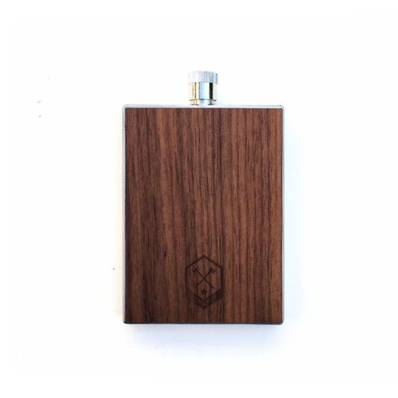 Image of TIMBER Wood Skin 3oz. Flask: Free US Shipping