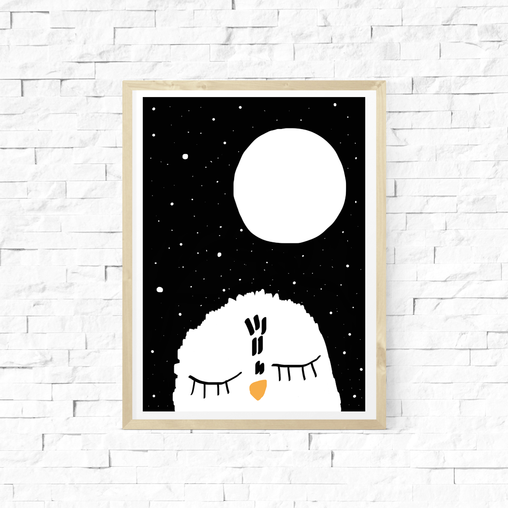 "Image of Lámina ""Night Night Owl"""