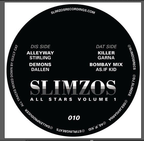 "Image of Slimzos 010 -Slimzos allstars 4 track ep (12"")"