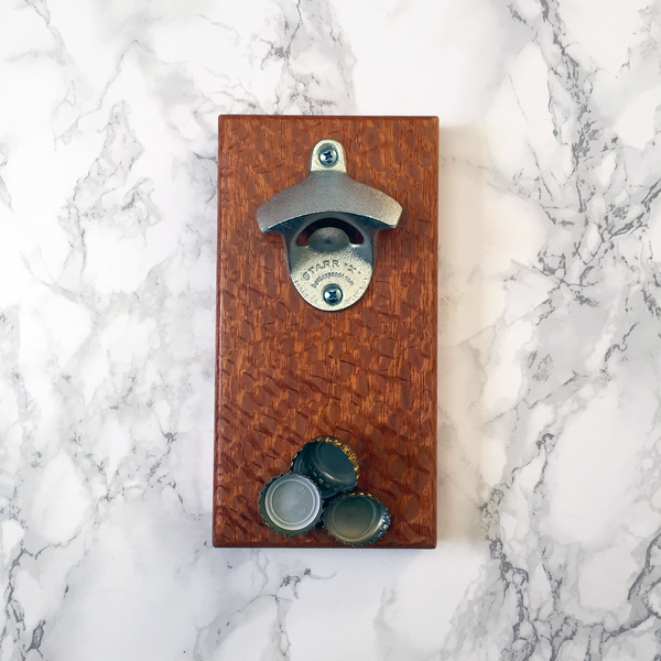 Image of Lacewood magnetic bottle opener