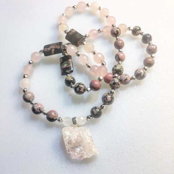 Image of *For Goddess Amanda* Kunzite Heart Chakra Healing and Auto Immune healing/Yin/Yang Balance