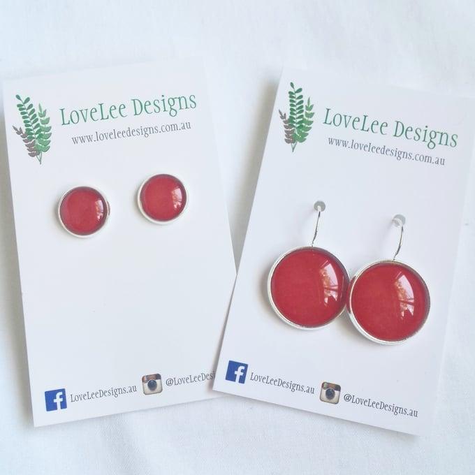 Image of Earrings - Red