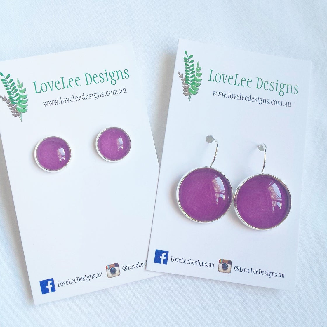 Image of Earrings - purple