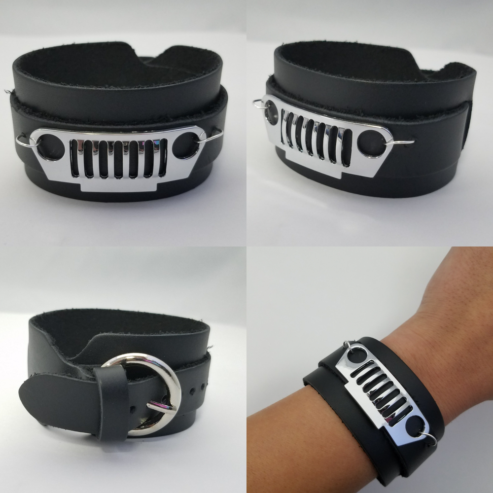 Image of Wide Leather JEEP Bracelet