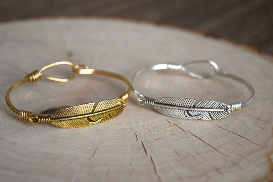 Image of Feather Clasp Bangle
