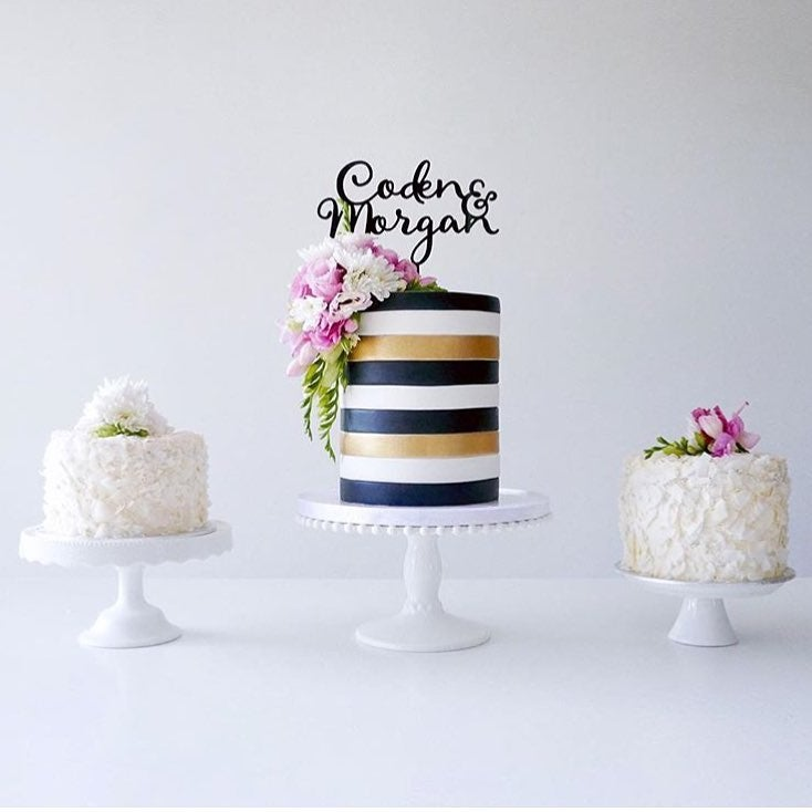 Image of Custom Double Name Cake Topper